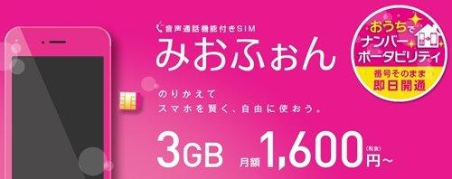 格安SIM 音声通話プランのMVNOシェアランキングIIJmio
