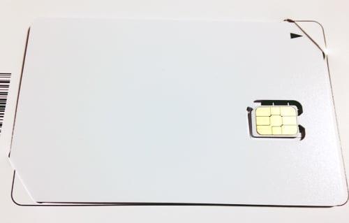 格安SIMの設定方法SIMカード