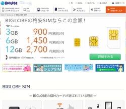 格安SIM総合ランキングBIGLOBE LTE