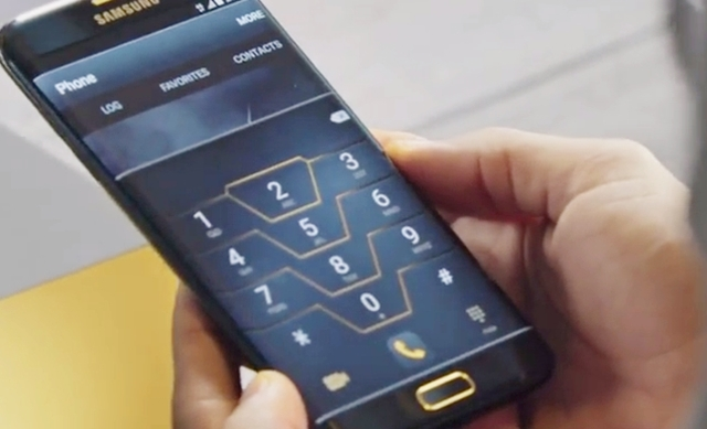 Galaxy S7 edge Injustice Editionディスプレイ画面