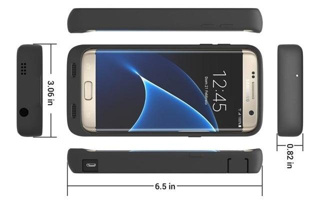 ZeroLemon「Galaxy S7 Edge」バッテリーケースのサイズ