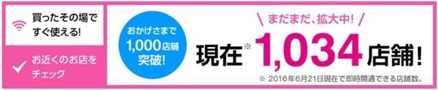 UQ mobile 店舗数1000店突破!トップ画像