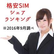 格安SIMのシェアランキング 2016年9月(MMD研究所調べ)