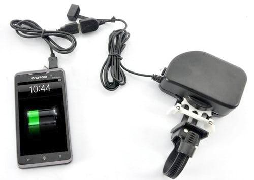 スマホ充電器「チェーン式自転車USBダイナモチャージャー SPGEFBI1」