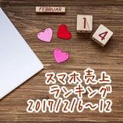 2017/2/6~2/12 スマホ売上ランキング au「AQUOS U」が好調!初のトップ10入り!